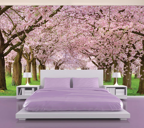 Pink Blossom - Full Wall Mural