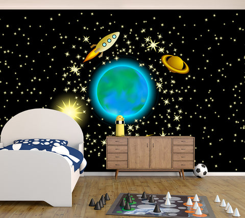 Planet Earth - Full Wall Mural