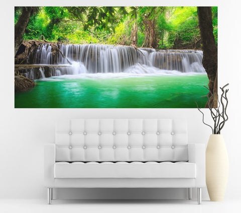 Peaceful Falls - Half Wall Mural