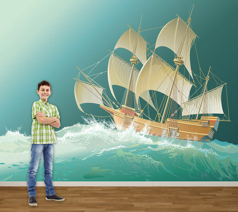 Pirate Ship - Full Wall Mural