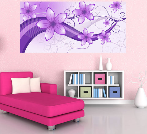 Wonder Purple - Half Wall Mural
