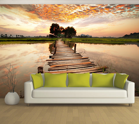 Reflection Jetty - Full Wall Mural