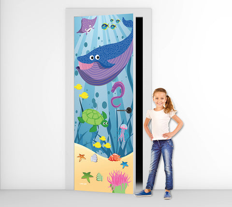 Whale of a Time - Door Mural
