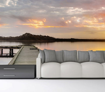 Sunset Jetty - Full Wall Mural