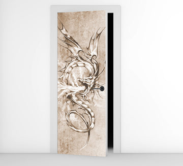 Sketch Dragon - Door Mural