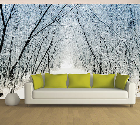 Snow Tunnel - Full Wall Mural