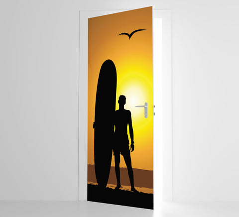 Silhoette Surf - Door Mural