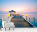 Seascape Twilight - Full Wall Mural