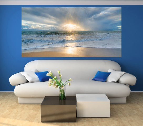 Seaside Twilight - Half Wall Mural