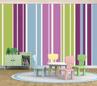 Stripes Assorted Purple - Full Wall Mural