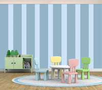 Stripes Assorted Big Blue - Full Wall Mural