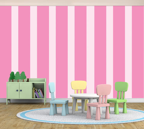 Stripes Assorted Pink - Full Wall Mural
