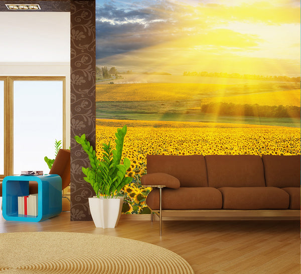 Sunflowers - Full Wall Mural