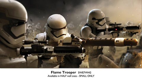 Flame Trooper - Licensed Star Wars Half Wall Mural - 2500x1200mm