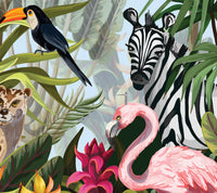Watercolour Jungle - Door Mural