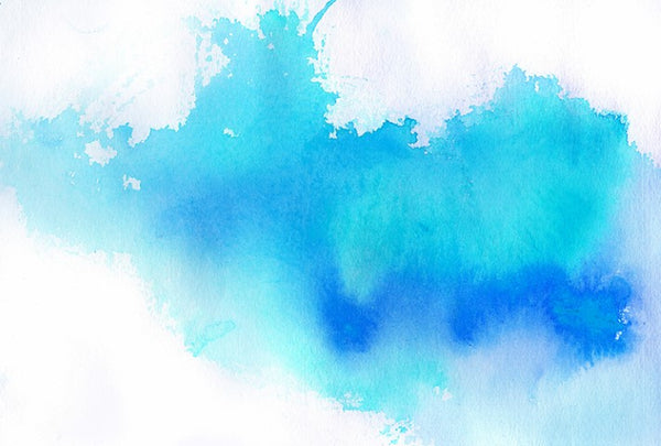 Watercolour Blue - Full Wall Mural