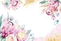 Watercolour Protea - Full Wall Mural