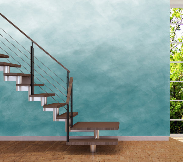 Ombre Watercolour Turquoise 2 - Full Wall Mural