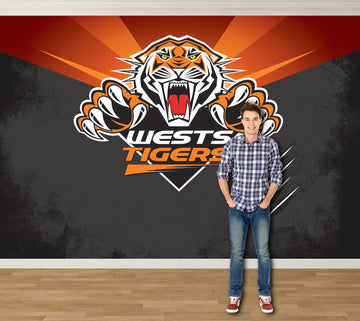 West Tigers - Licensed NRL Mural 3600x2430mm