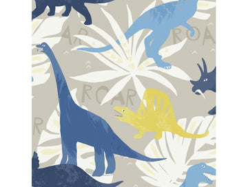 Dinosaurs Blue Green Playdate Adventure Wallpaper