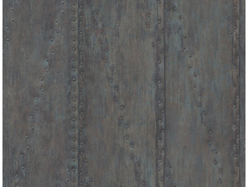Rusted Stud Panels Wallpaper