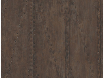 Rusted Stud Panels Rust Wallpaper