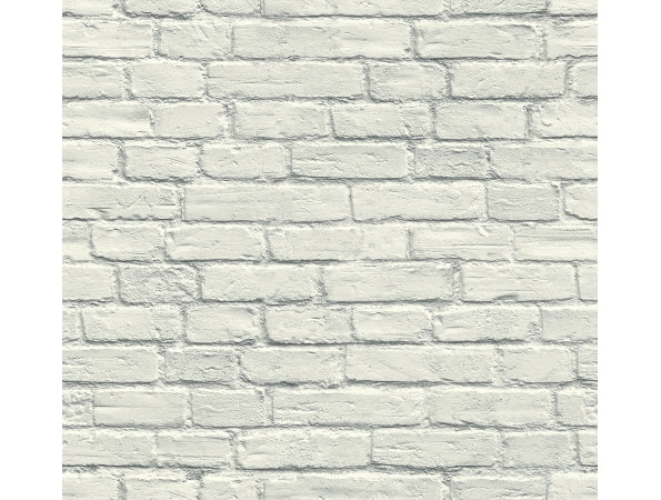 Bricks White IR72010 Modern Foundation Wallpaper