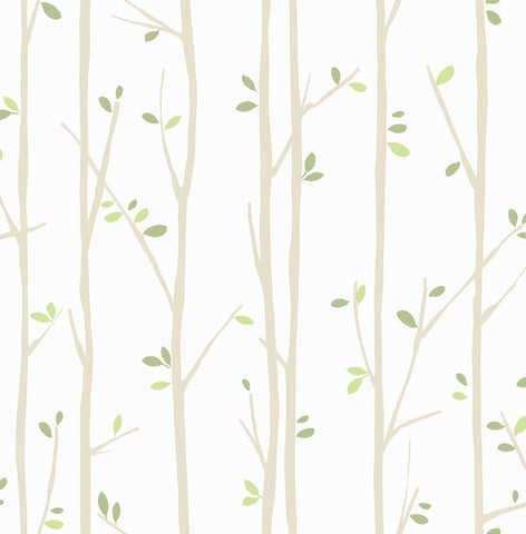 Twiggy Jelly Beans Wallpaper GREEN WHITE