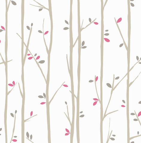 Twiggy Jelly Beans Wallpaper PINK BROWN