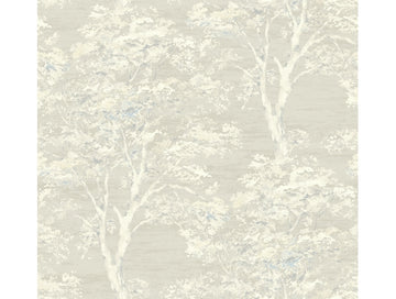Blossoming Dogwood Suede Wallpaper