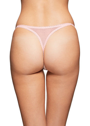 Mariposa Thong Blush Panties Underwear By Wings Intimates