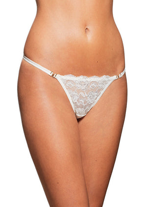 Pearly Eye Thong White Panties Underwear By Wings Intimates