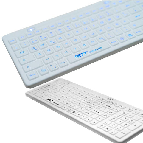 Gett Accessories Washable, Backlight, EN Certified Keyboard