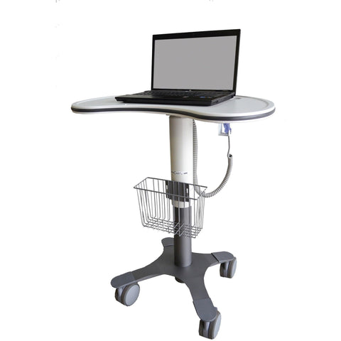 Lund Industries, Inc. Laptop Cart Frost White Large Kidney Shaped Cart