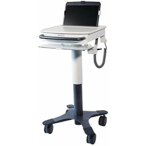 Secure and locking laptop cart for medical professionals