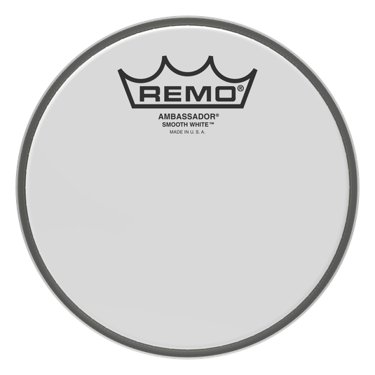 "Remo 12"" Coated Smooth White Ambassador Drumhead"