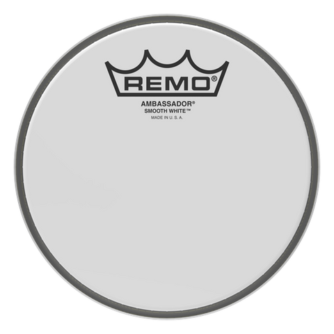 "Remo 10"" Coated Smooth White Ambassador Drumhead"