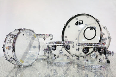 DW Acrylic 5 Piece Drum Set