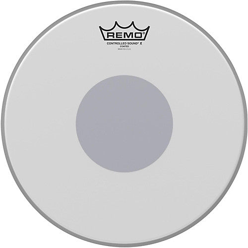 "Remo 13"" Controlled Sound X Coated Black Dot on Bottom Drumhead"