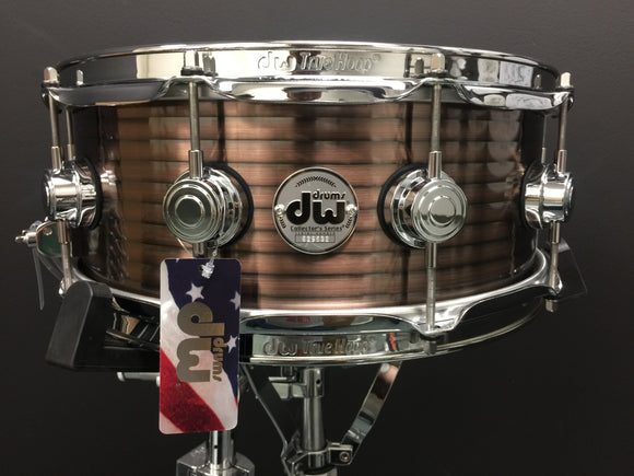 DW Ribbed Vintage Copper Over Steel Collector's Series Snare