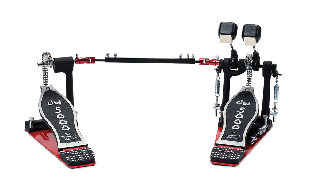 DW 5000 Series Accelerator Double Bass Drum Pedal - Solid Footboard