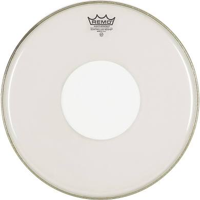 "Remo 12"" Controlled Sound Clear White Top Dot Drumhead"