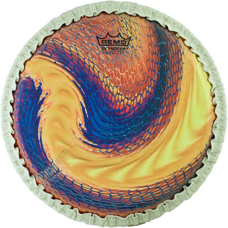"Remo 12.5"" Tucked Skyndeep Conga Drumhead w/ ""Serpentine Day"" Graphic"
