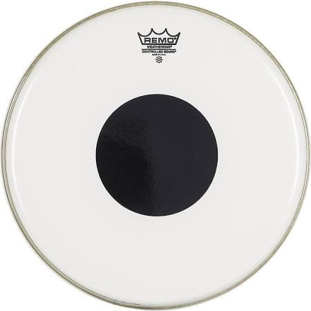 "Remo 10"" Controlled Sound Smooth White Black Dot Drumhead"