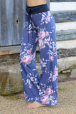 Chill Out Floral Lounge Pants- Blue