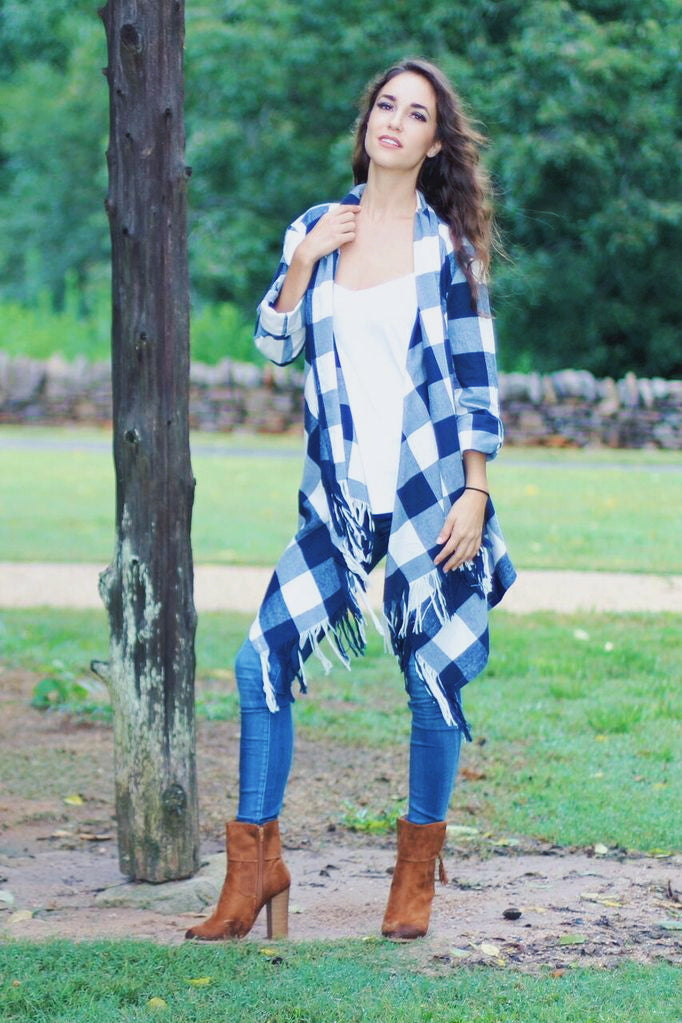 Autumn Daze Plaid Cardigan
