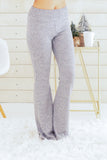 Hem and Thread Fleece Sweatpants in Light Grey Front/Right View
