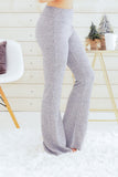 Hem and Thread Fleece Sweatpants in Light Grey Right Side View