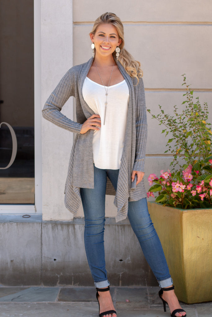 Flair for the Dramatic Cardigan - Grey