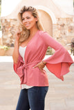 Up My Sleeve Tie-Front Cardigan